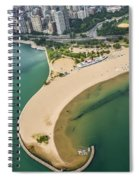 North Avenue Beach And Castaways Restaurant Spiral Notebook