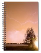 North Boulder County Colorado Lightning Strike Spiral Notebook
