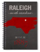 North Carolina State University Wolfpack Raleigh College Town State Map Poster Series No 077 Spiral Notebook