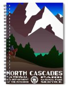 North Cascades National Park Vintage Poster Spiral Notebook