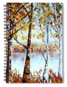 North Country Lake Superior Birch Trees Early Autumn Spiral Notebook