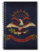 North Dakota State Flag Art On Worn Canvas Spiral Notebook