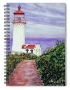 North Head Light House On The Washington Coast Spiral Notebook