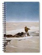 North Pole Dog Sled, C1910 Spiral Notebook