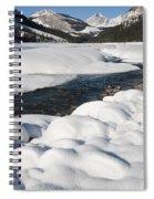 North Saskatchewan River In Winter Spiral Notebook