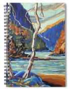 North West Lake By Prankearts Spiral Notebook