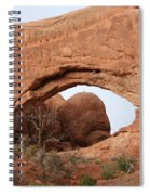 North Window  Arches Park Spiral Notebook
