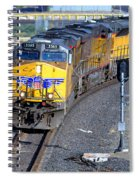 Northbound From Roseville At The Crooked Bridge Spiral Notebook