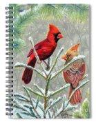 Northern Cardinals Spiral Notebook