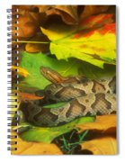 Northern Copperhead Camouflaged Spiral Notebook