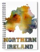 Northern Ireland Watercolor  Map Spiral Notebook