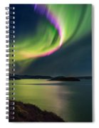 Northern Lights Over Thingvallavatn Or Spiral Notebook