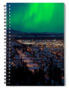 Northern Lights Over Whitehorse Spiral Notebook
