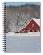Northern Michigan Country Winter Spiral Notebook