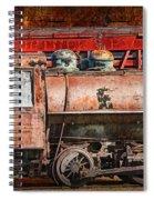 Northern Pacific Vintage Locomotive Train Engine Spiral Notebook