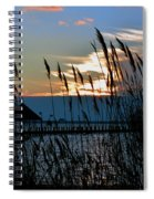 Ocean City Sunset At Northside Park Spiral Notebook
