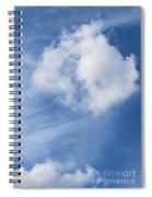 Northward Blowing Spiral Notebook