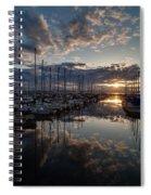 Northwest Sunset Marina Spiral Notebook