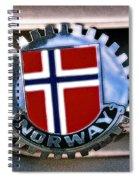 Norway Car Emblem Spiral Notebook