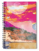 Space Landscape Spiral Notebook