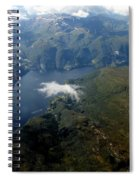 Norwegian Fjord From On High Spiral Notebook