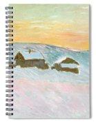 Norwegian Landscape, Blue Houses, 1895 Spiral Notebook