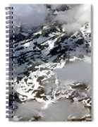 Norwegian Mountains From On High Spiral Notebook