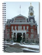 Norwich City Hall In Winter Spiral Notebook