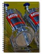 Nos Bottles In A Racing Truck Trunk Spiral Notebook
