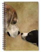 Nose To Nose Dogs Spiral Notebook