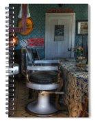 Nostalgia Barber Shop Spiral Notebook