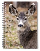 Not Meant To Deer Hunt Spiral Notebook