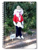 Not So Scary Junior Miss Scarecrow Spiral Notebook