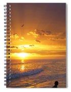 Not Yet - Sunset Art By Sharon Cummings Spiral Notebook
