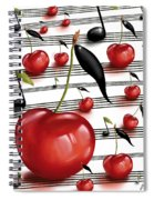 Notes Of Fruits Spiral Notebook