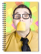Notice Board Businessman With Crazy To-do List Spiral Notebook