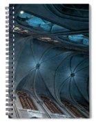 Notre Dame Ceiling North In Teal Spiral Notebook