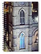 Notre Dame De Montreal At Night Spiral Notebook