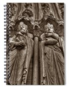 Notre Dame Facade Detail Spiral Notebook