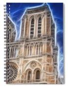 Notre Dame Fractal Spiral Notebook