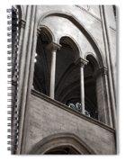 Notre Dame Gothic Arches Spiral Notebook