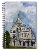 Sacre Coeur In Paris Spiral Notebook