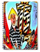 Notre Debut Abstract Spiral Notebook