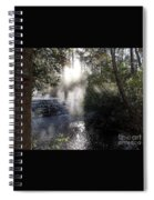Angel Meeting At Waterfall Spiral Notebook