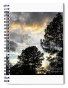 Nov 22 2011 Small Cross In Clouds Spiral Notebook