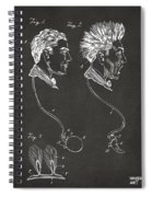 Novelty Wig Patent Artwork Gray Spiral Notebook