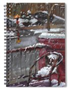 First Snowfall Nov 17 2014 Spiral Notebook