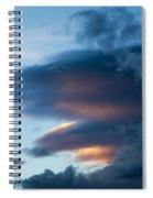 November Clouds 001 Spiral Notebook