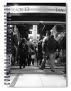 Now Boarding Track 12 And 10 For Home Bw Spiral Notebook