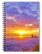 Nsb Lifeguard Station Sunrise Spiral Notebook